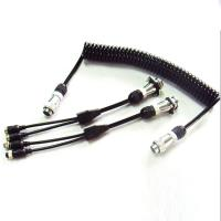Quality 5 Pin PU Coiled Trailer Cable , Spiral Electrical Cable For Back Rear Camera wholesale