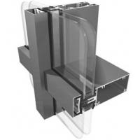 China High Security Aluminium Curtain Wall ,  Flexible Convenient Steel Curtain Wall System on sale