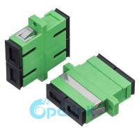 Quality SC/APC Plastic Singlemode Duplex Fiber Optic Adapter wholesale