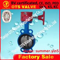 Cheap worm gear or hand lever butterfly valve from factory for sale