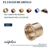 Quality Precision Flanged Groove Cast Bronze Bushings Spiral Inside Groove Bearings wholesale