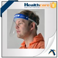 Quality Hospital Protection Disposable Full Face Shields , Safety Medical Face Shield Visor wholesale