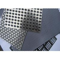 China Round hole stainless steel perforated metal sheet filter screen etching mesh on sale
