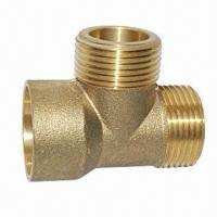 China Forged Brass Fitting, Die-closed Hot Forging, Lathe Machining, Sand Blasting, Competitive Price on sale