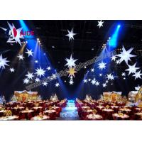 Cheap Weeding Inflatable LED Star , Spiky Stars Inflatable Balloon Free Shipping for sale