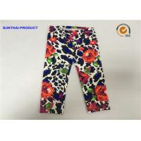 Quality Rose Print Cute Baby Girl Leggings Lycra Jersey No Side Seam Pant SGS Approved wholesale