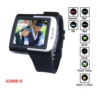China Silicon Touch Screen MP4 Player Watch With 3 - D Stereo Model, E - Book Function on sale