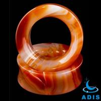 Quality Stone Ear Plugs / Agate Stone Plugs Saddle Plugs For Hot Summer wholesale