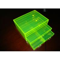 Quality Fluorescence Green Acrylic Jewelry Display Case Non-Toxicity With Drawers wholesale