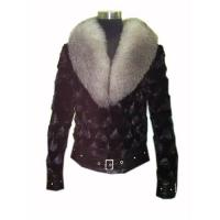 China Mink fur coat with silver fox fur collar on sale