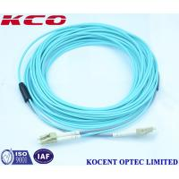 OM3 LC LC Duplex Fiber Optic Patch Cord / Armoured Fibre Optic Cable