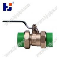Quality Plastic pipe fittings PPR brass ball valve with double union wholesale