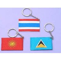 Quality Polyester or 100% cotton, merrow border or heat cut embroidered key rings wholesale