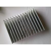 Quality Extruded Aluminum HeatSink Silver Anodizing CNC Machining Cool Fin Heat Sink CE GS For LED Lighting wholesale