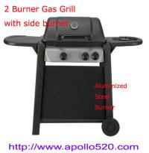 Quality 2 Burner Plus Side Burner Gas Barbecue wholesale