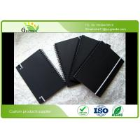 Quality Custom Ruled Black Cardboard Hardcover Spiral Notebook for School / Office wholesale