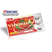 Quality Functional Chewable Vitamin C Candy Tablets , Sugar Free Confectionery Strawberry Sweets wholesale