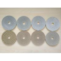 Quality #50 #100 #200 #400 125mm White Wet Polishing Pad Thickness 2.5-3.0mm wholesale