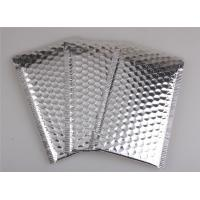 Quality Aluminum Foil Metallic Bubble Mailers Silver Color Self Sealing For Postal Packaging wholesale