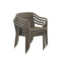 Quality Portable SGS Approval L61cm Rattan Wicker Chairs Stackable wholesale