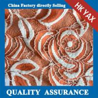Quality YAX China supplier wholesale YX1616 Chinashow White and Orange Emproidery Cotton Organza Sequence Lace Fabric wholesale