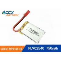 Cheap rc helicopter battery 3.7v 902540 li polymer battery 750mah 25C high rate battery pl902530 for sale