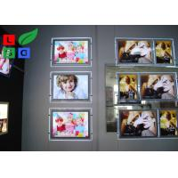 Quality Portrait View Crystal Light Box Display A2 Size With Cable Hanging Kits wholesale