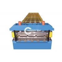 China Aluminium Profile Roofing Sheet Roll Forming Machine For Building Panel on sale