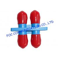 Quality ST Duplex optical cable adapter / Red Cap multimode fiber optic adapter wholesale