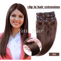 China Brazilian pre bonded remy human hair extensions / Clipped in Hair Extensions on sale
