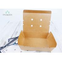Quality Venting Paper Takeaway Boxes With Degassing Holes For Hot Take Out Food wholesale