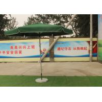 Quality Green Large Square Umbrella With 50 Kg Marble Base , Square Steel Tube Frame wholesale