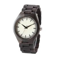 Quality Black Strap Wooden Quartz Watch Unisex Custom Own Logo With One Year Warranty wholesale