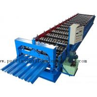 Quality PLC Steel Metal Roof Panel Roll Forming Machine , Roofing Sheet Roll Former 5 Ton wholesale