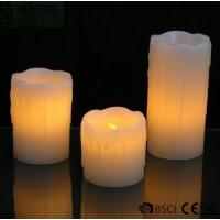 Quality 3 Set Flickering Electric Battery Operated LED Candles for Holiday / Wedding wholesale