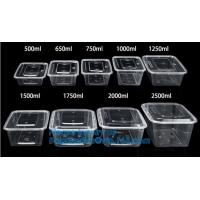 China Microwave lunch bento box Eco-friendly 700ml disposable plastic pp food storage containers food take away packaging box on sale
