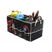 Quality Fully Collapsible Trunk Organizer Black Color , Trunk Storage Organizer wholesale