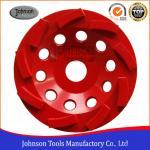 Quality Metal Bond 125mm Diamond Swirl Cup Wheel 9 Nos Teeth For Stone / Concrete wholesale
