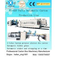 Quality Fully Automatic Carton Box Printer Slotter Die Cutter Machine with Folder Gluer Inline wholesale