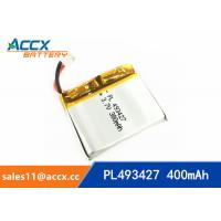 Quality 493427 pl493427 3.7v li-ion polymer battery with full capacity 400mAh for dada recorder, led light, digital products wholesale