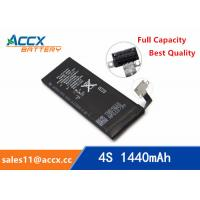 Quality ACCX brand new high quality li-polymer internal mobile phone battery for IPhone 4S with high capacity of 1450mAh 3.7V wholesale
