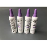 China Mini 5ml Empty Cosmetic Tubes White Needle Nose Sunscreen Gel Diameter 16mm With Sponge Cap on sale