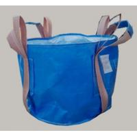 Quality Two loop blue Circular FIBC bag with 4 lifting UV treated for transportation wholesale