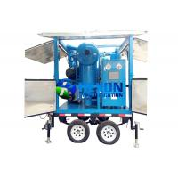 Quality Double Axle Mobile Typed Double Stage Vacuum Transformer Oil Purifier ZYD-M-100 (6000LPH) wholesale
