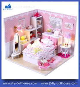 Quality English Instruction Dollhouse Miniature Model Toy House Gift Educational Toy Craft M001 wholesale