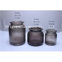 China spray color glass candle jar wholesale on sale