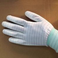 Quality stripped ESD anti static PU coated gloves for electronic factory use wholesale