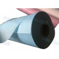 China Perforated Hospital Bed Sheets Disposable Examination Table Cover Roll PE Coated on sale