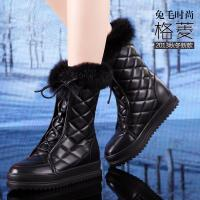Quality Wholesale winter warm real leather snow white boot,Europe design fashion furry flat boots wholesale