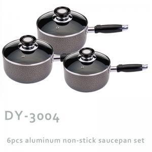 Quality 6pcs aluminum non-stick saucepan set wholesale